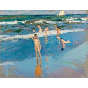 quadros de paisagens marinhas - Quadro -Niños en el mar, Playa de Valencia- - Sorolla, Joaquin