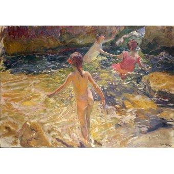 quadros de paisagens marinhas - Quadro -El baño, Jávea- - Sorolla, Joaquin
