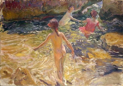 quadros-de-paisagens-marinhas - Quadro -El baño, Jávea- - Sorolla, Joaquin
