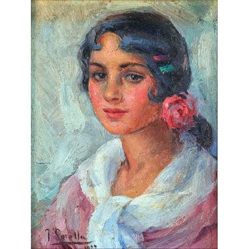pinturas do retrato - Quadro -Retrato de una mujer-