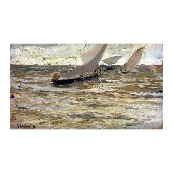 pinturas de paisagens marinhas - Quadro -Salida de las barcas, Asturias-