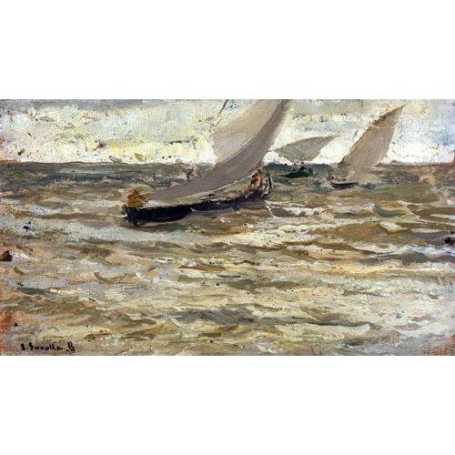 Quadro -Salida de las barcas, Asturias-