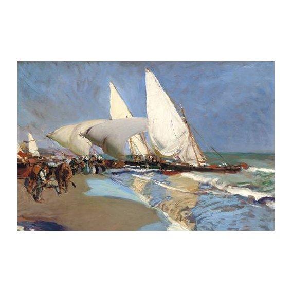 pinturas de paisagens marinhas - Quadro -La playa de Valencia-
