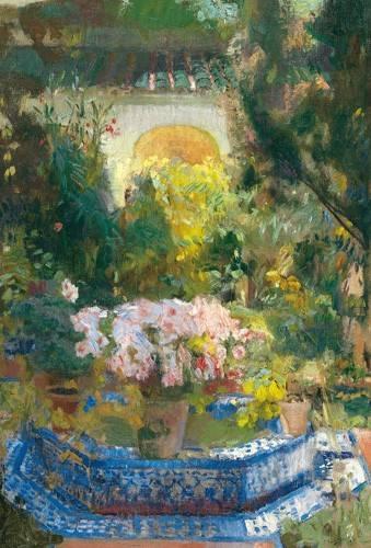 quadros-de-paisagens - Quadro -Patio de la casa Sorolla, 1917- - Sorolla, Joaquin