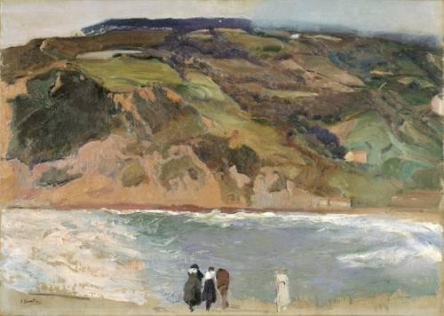 quadros-de-paisagens - Quadro -Rompeolas de San Sebastián, 1917- - Sorolla, Joaquin