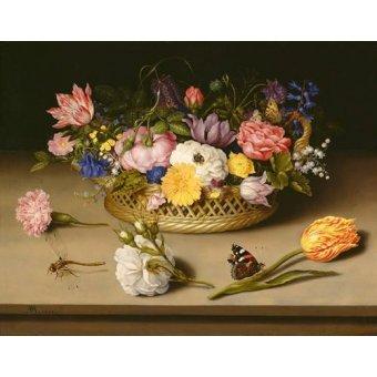 quadros de flores - Quadro -Flower Still Life- - Bosschaert, Ambrosius