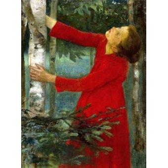 pinturas de retratos - Quadro -Birdsong- - Ferenczy, Károly