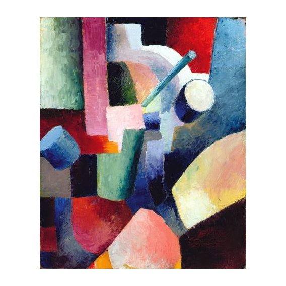 pinturas abstratas - Quadro -Abstracto _ Colored Composition of Forms, 1914-