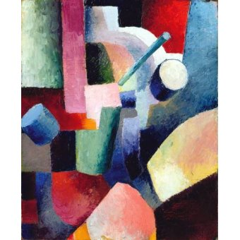 Quadros abstratos - Quadro -Abstracto _ Colored Composition of Forms, 1914- - Macke, August