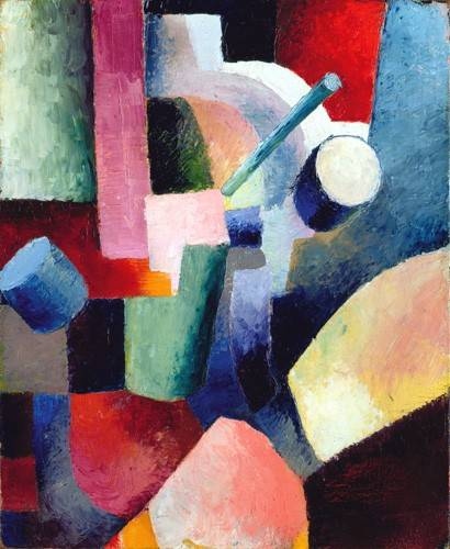 quadros-abstratos - Quadro -Abstracto _ Colored Composition of Forms, 1914- - Macke, August
