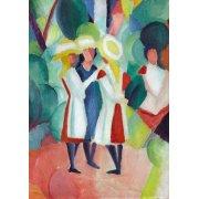 Quadro -Three girls in yellow straw hats, 1913-