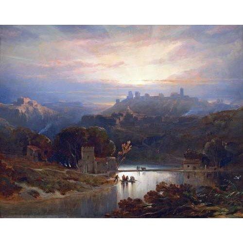 pinturas de paisagens - Quadro -El Castillo de Alcala de Guadaira, Sevilla-