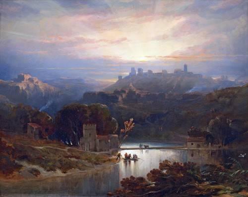 quadros-de-paisagens - Quadro -El Castillo de Alcala de Guadaira, Sevilla- - Roberts, David