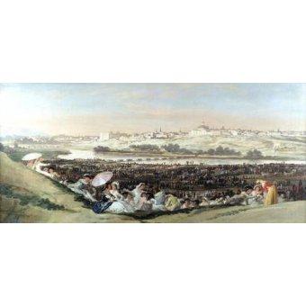 - Quadro -La Pradera de San Isidro, 1814- - Goya y Lucientes, Francisco de