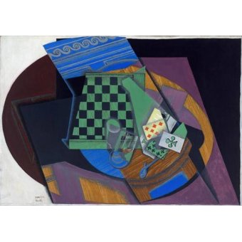 - Quadro -Damier et cartes à jouer, 1919- - Gris, Juan