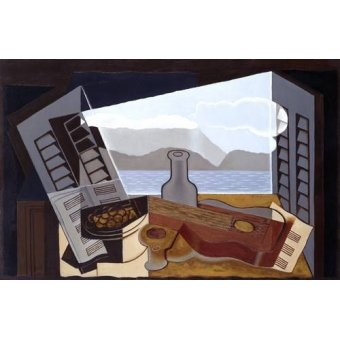 abstracts paintings - Picture -The Open Window, 1921- - Gris, Juan