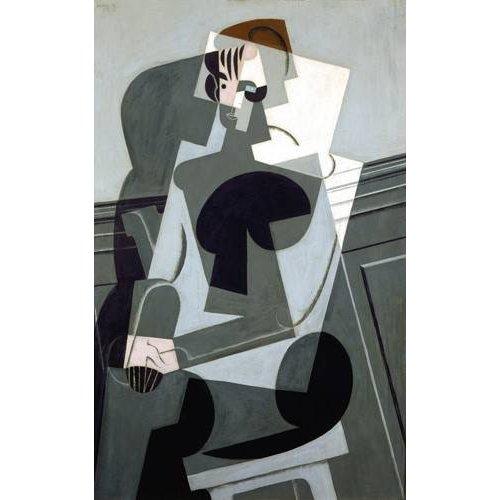pinturas abstratas - Quadro -Portrait de Madame Josette Gris, 1916-
