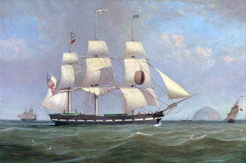 quadros-de-paisagens-marinhas - Quadro -The Black Ball Line Packet Ship 'New York' off Ailsa Craig, 183 - Clark, William