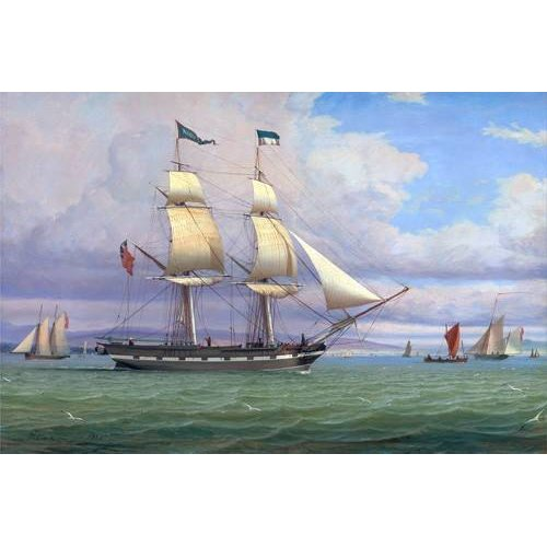 Quadro -The English Brig 'Norval' before the Wind, 1833-