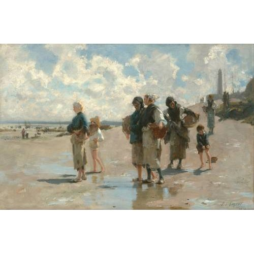 Quadro -Fishing for Oysters at Cancale, 1878-