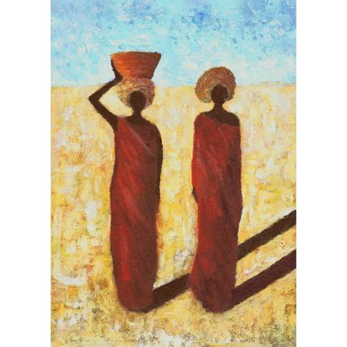 imagens étnicas e leste - Quadro -African Girls, 2001-