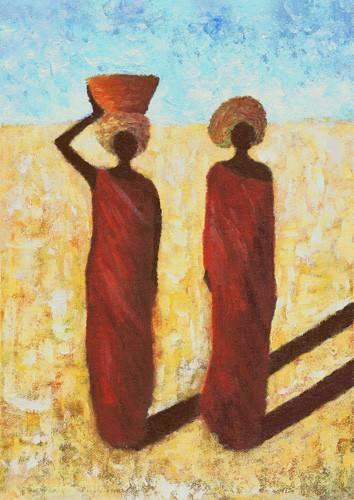 quadros-etnicos-e-orientais - Quadro -African Girls, 2001- - Wilson, Tom