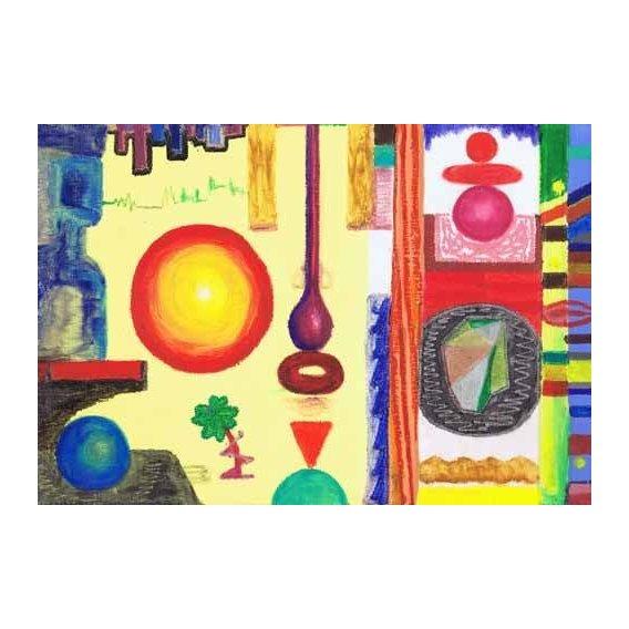 imagens étnicas e leste - Quadro -Abstracto _ Diurnal, 2002-