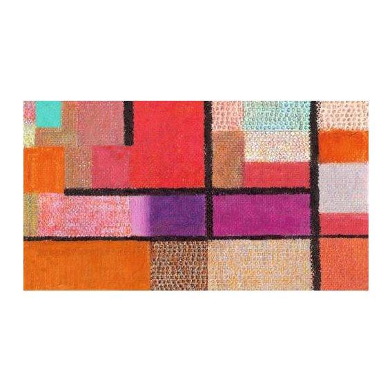pinturas abstratas - Quadro -La Playa-