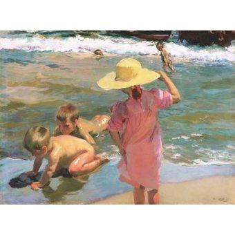 quadros de paisagens marinhas - Quadro -Los Jovenes Anfibios, 1903- - Sorolla, Joaquin