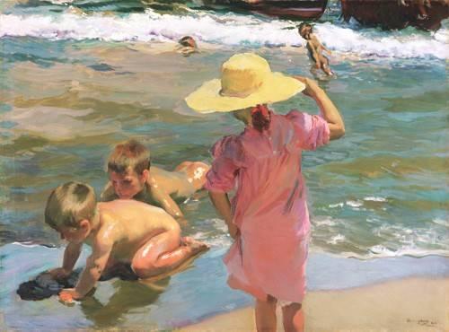 quadros-de-paisagens-marinhas - Quadro -Los Jovenes Anfibios, 1903- - Sorolla, Joaquin