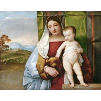 cuadros religiosos - Cuadro -Virgen Gitana- - Tiziano, Tiziano Vecellio
