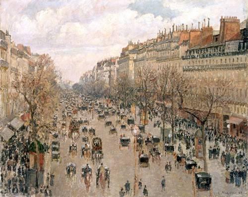 quadros-de-paisagens - Quadro -Boulevard_Montmartre, 1897- - Pissarro, Camille