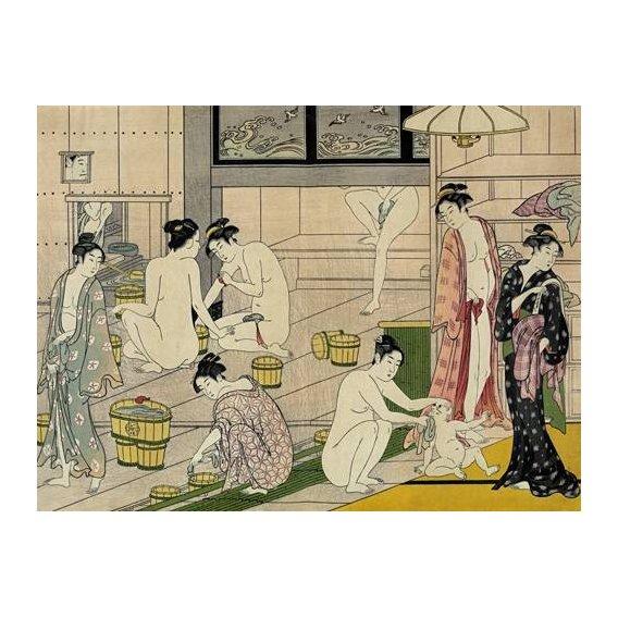 imagens étnicas e leste - Quadro -Bathhouse women-