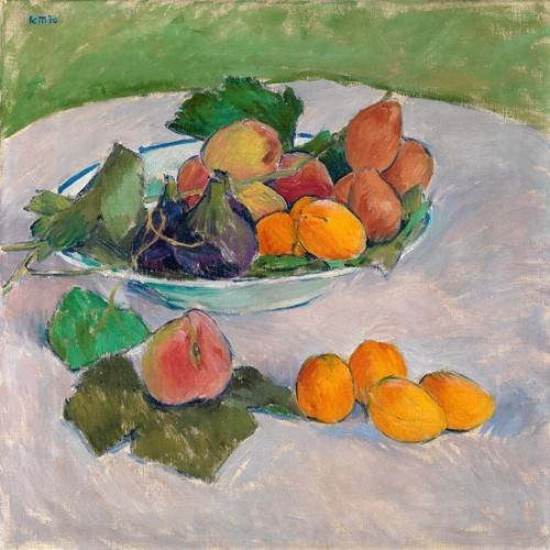 Quadro -Still life with fruits and leaves-