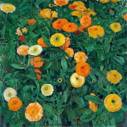 quadros-de-flores - Quadro -Caléndulas (Marigolds)- - Moser, Kolo