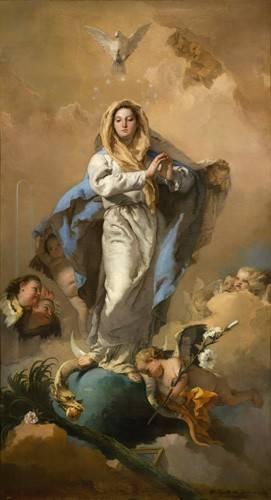 quadros-religiosos - Quadro -La Inmaculada Concepción- - Tiepolo, Giovanni Battista