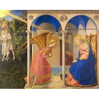 religious paintings - Picture -La Anunciación- - Fra Angelico, G. Da Fisole