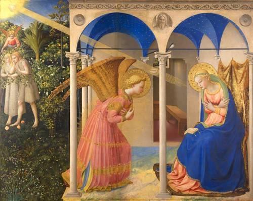 quadros religiosos - Quadro -La Anunciación- - Fra Angelico, G. Da Fisole