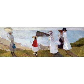 quadros de paisagens marinhas - Quadro -Paseo del faro, Biarritz, 1906- - Sorolla, Joaquin