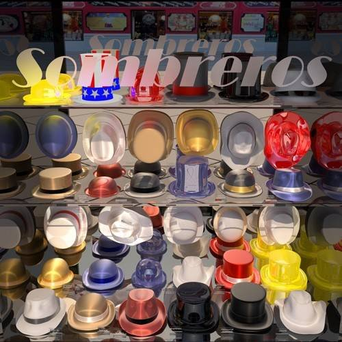 pinturas modernas - Quadro -La tienda de sombreros-