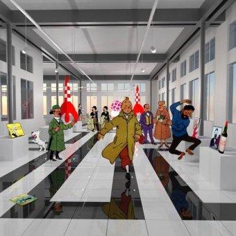 - Quadro -Noche en el museo de tintin- - Aguirre Vila-Coro, Juan