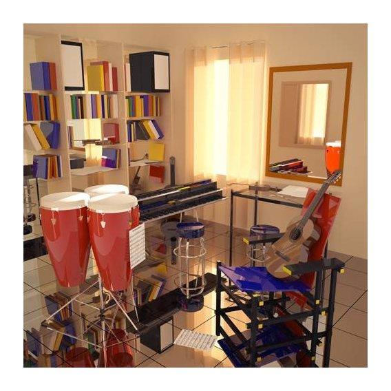 pinturas modernas - Quadro -El cuarto de Javier-