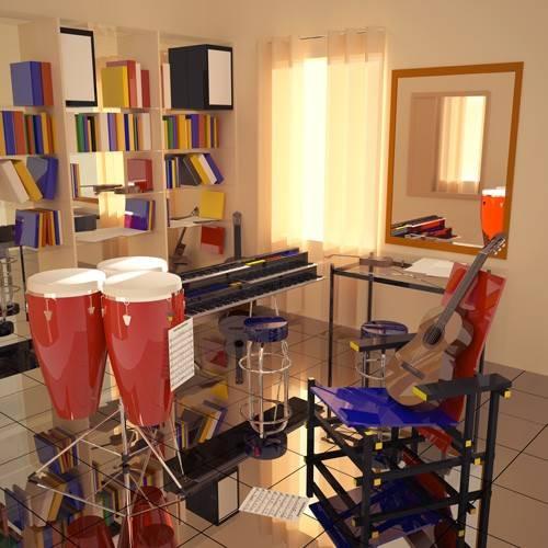 quadros-modernos - Quadro -El cuarto de Javier- - Aguirre Vila-Coro, Juan