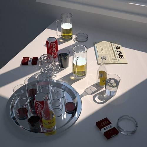 quadros-modernos - Quadro -Mesa de cafe- - Aguirre Vila-Coro, Juan