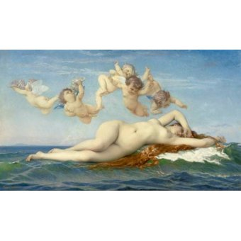 quadros nu artistico - Quadro -El Nacimiento de Venus- - Cabanel, Alexander