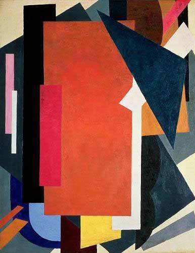 abstracts paintings - Picture -Painterly architectonics- - Popova, Lyubov Sergevna