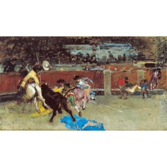 quadros de animais - Quadro -Corrida de touros- - Fortuny y Marsal, Mariano