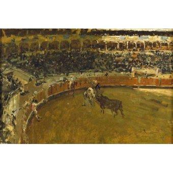 quadros de animais - Quadro -La corrida de toros- - Fortuny y Marsal, Mariano