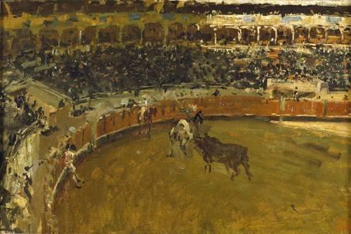 quadros-de-animais - Quadro -La corrida de toros- - Fortuny y Marsal, Mariano