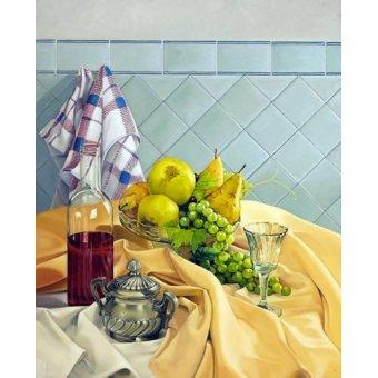 naturezas mortas - Quadro -Bodegon con frutas- - Zamarbide, Federico Garcia